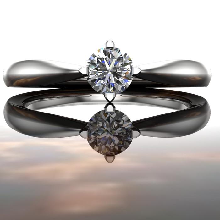 Elegant Affordable Engagement Ring | Round 1/5 Ct Diamond