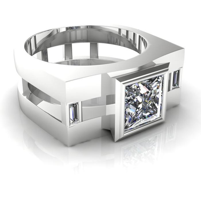 Agent   Men's Engagement Ring   Square 1 Carat Diamond