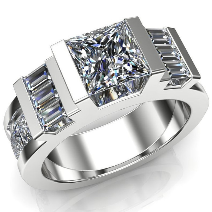Unbroken Men's Engagement Ring | Square 1ct Diamond