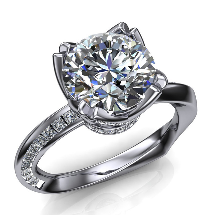 Mobius Twist & Sparkle Engagement Ring | Round 2ct Diamond