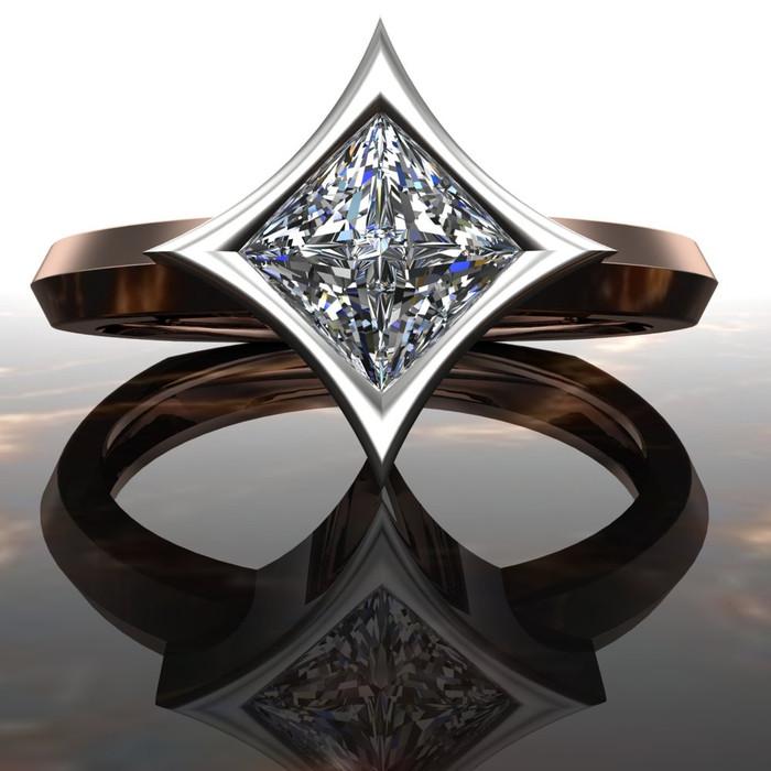 Polaris | Diamond Engagement Ring | Dramatic Princess Cut