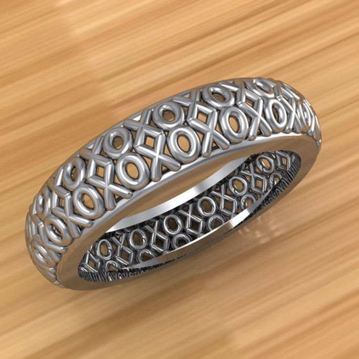 XOXO Hugs and Kisses Filigree Ring | Custom Wedding Band