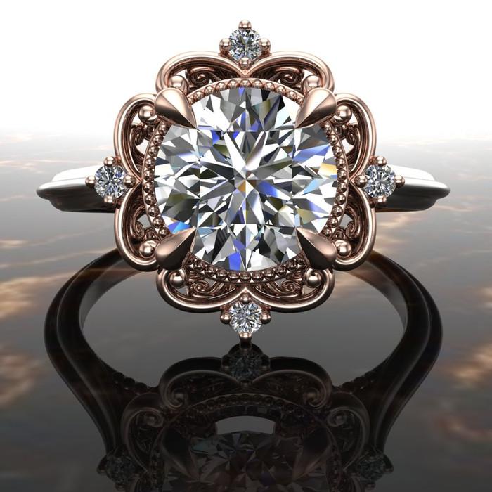 Supernatural Ring Eileen Fantasy Moissanite Engagement Ring