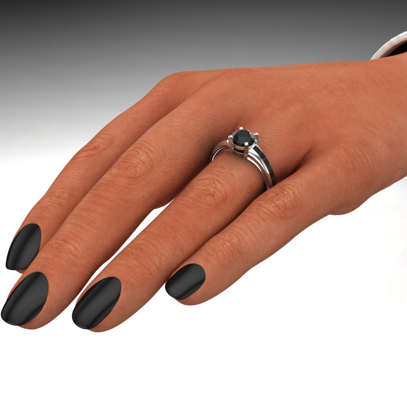 Supernatural 67 Impala Ring Baby Black Diamond Engagement Ring