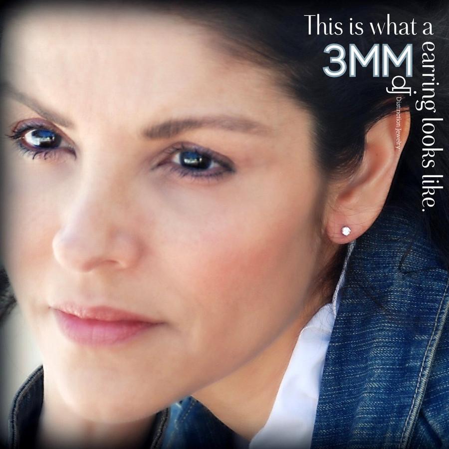 3mm earring modeled