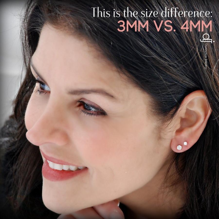 3mm vs 4mm earring