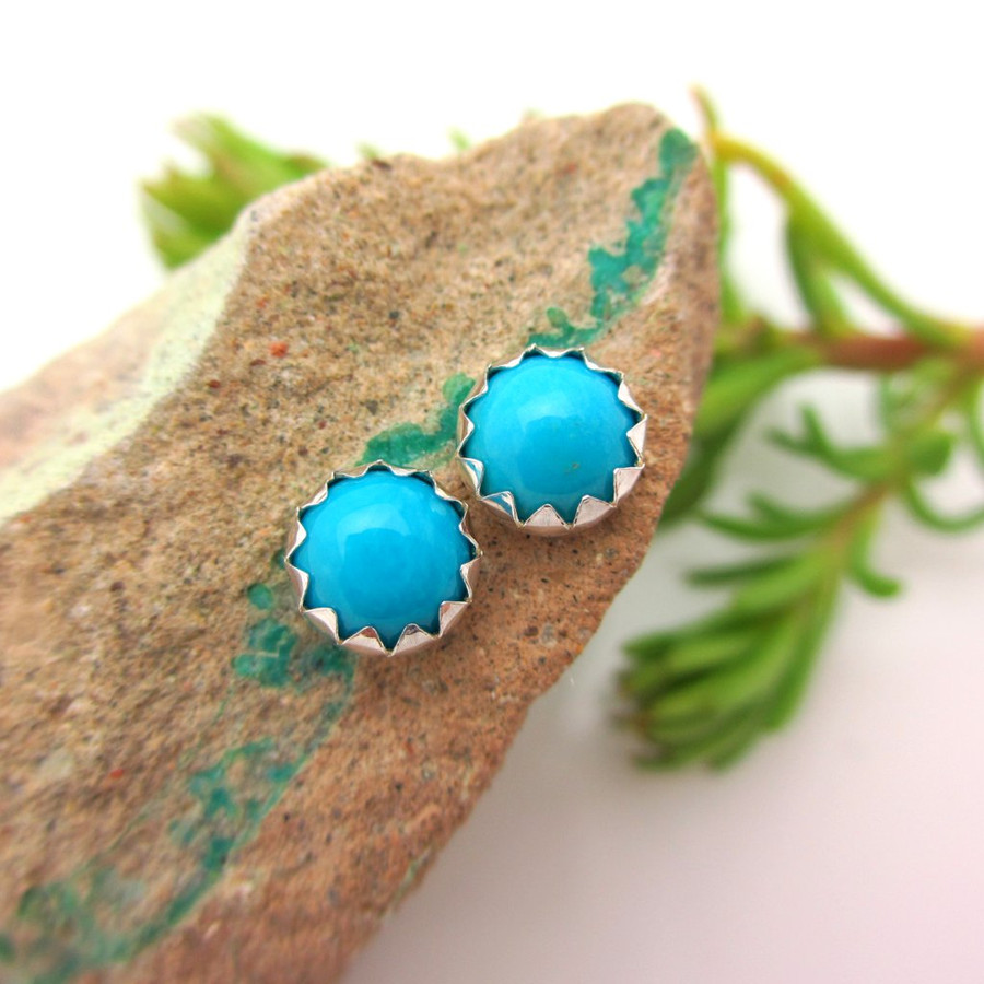 Sleeping Beauty Turquoise Stud Earrings