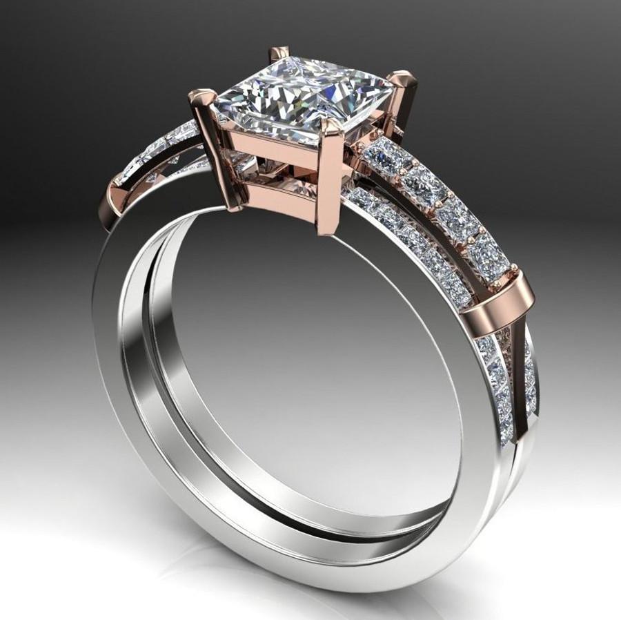 Bridges | 1 Carat Diamond Engagement Ring | Princess Cut