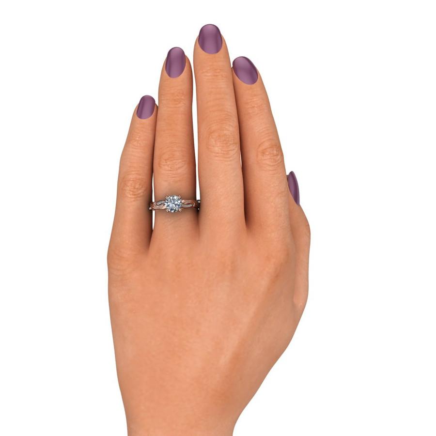 Asymmetrical Swirl Engagement Ring
