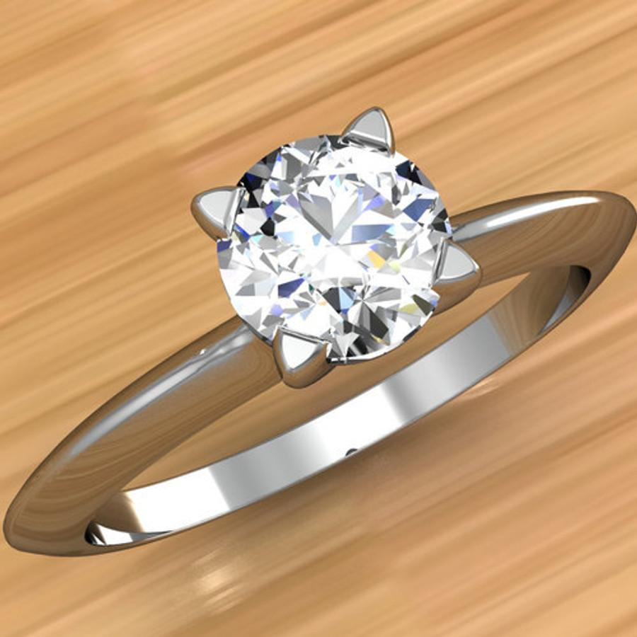 Solitaire Edge Engagement Ring | Round 1/2 Carat Diamond