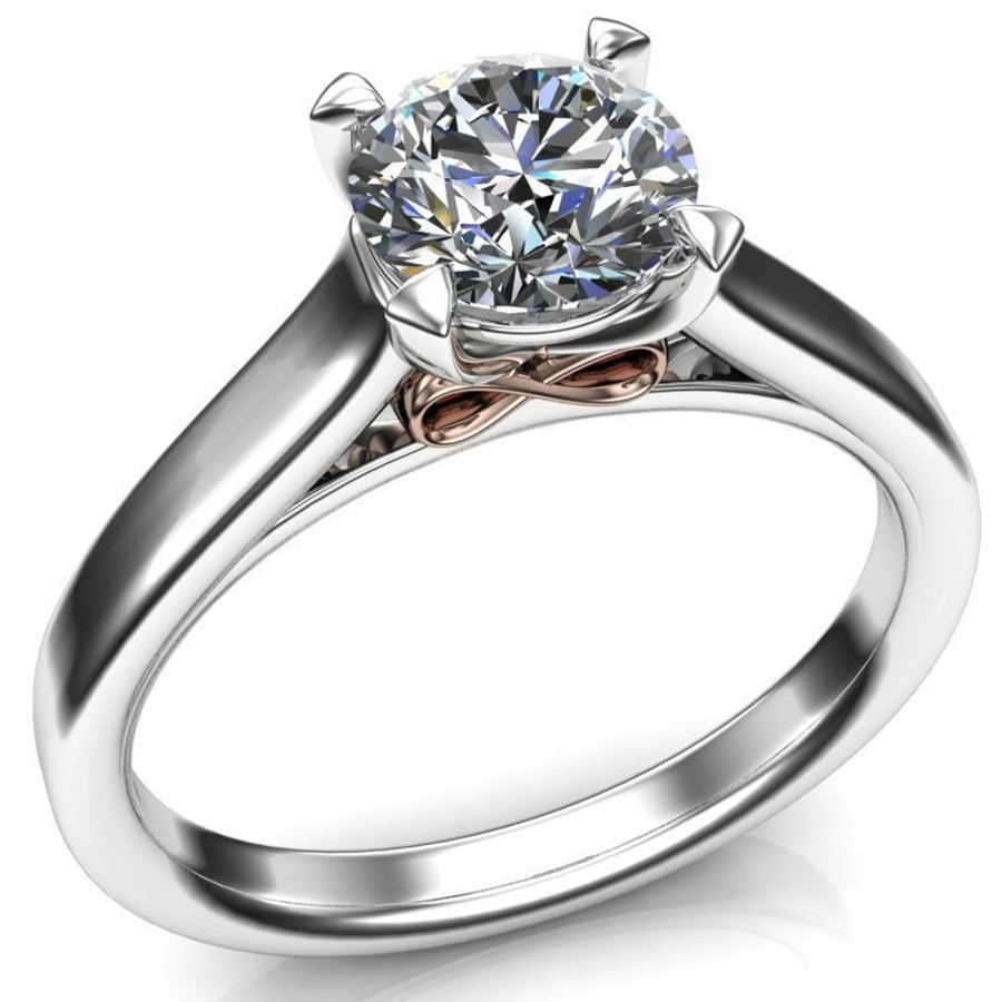 Infinity Underground Engagement Ring | Round .80ct Diamond