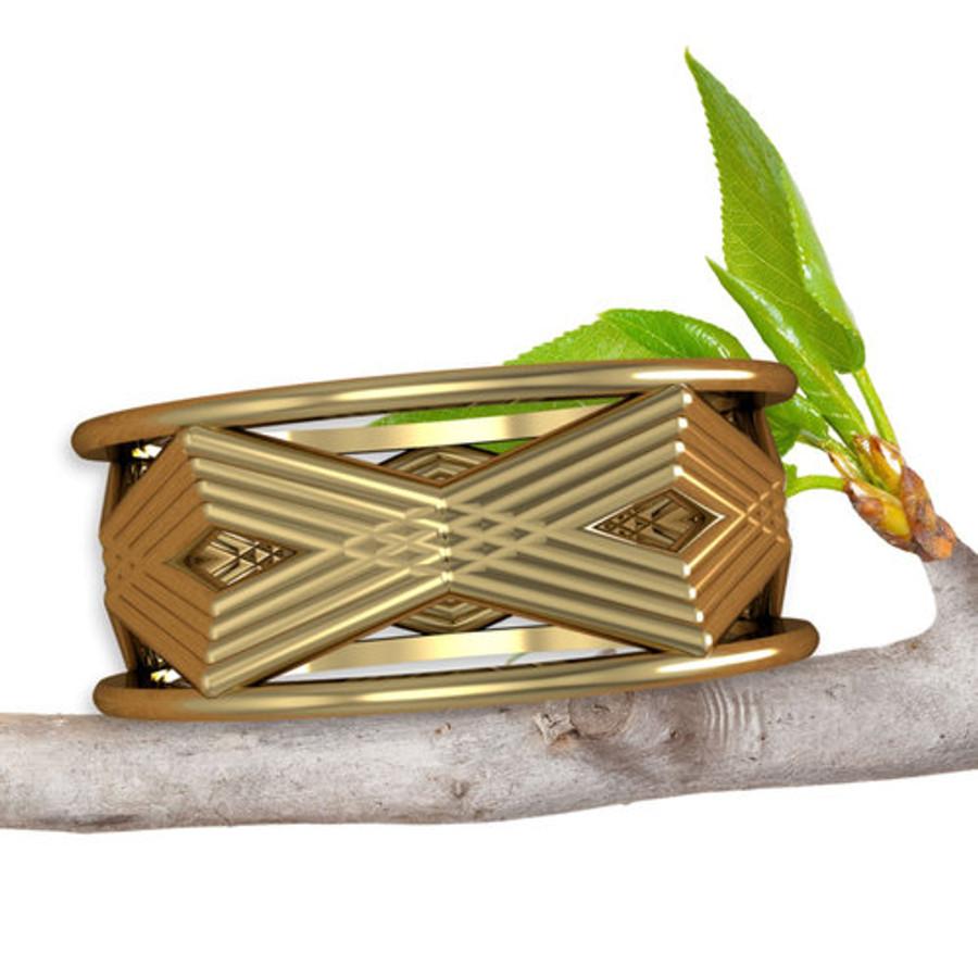 Art Deco Geometric Ring | Custom Wedding Band