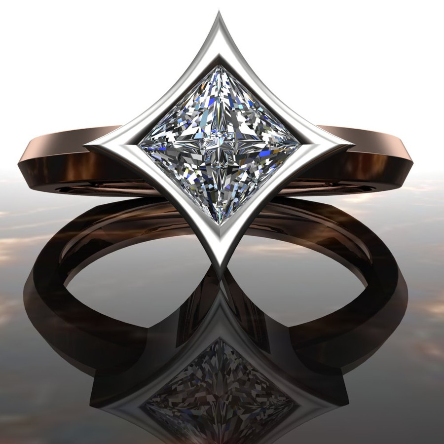 Polaris | Diamond Engagement Ring | Dramatic Princess Cut
