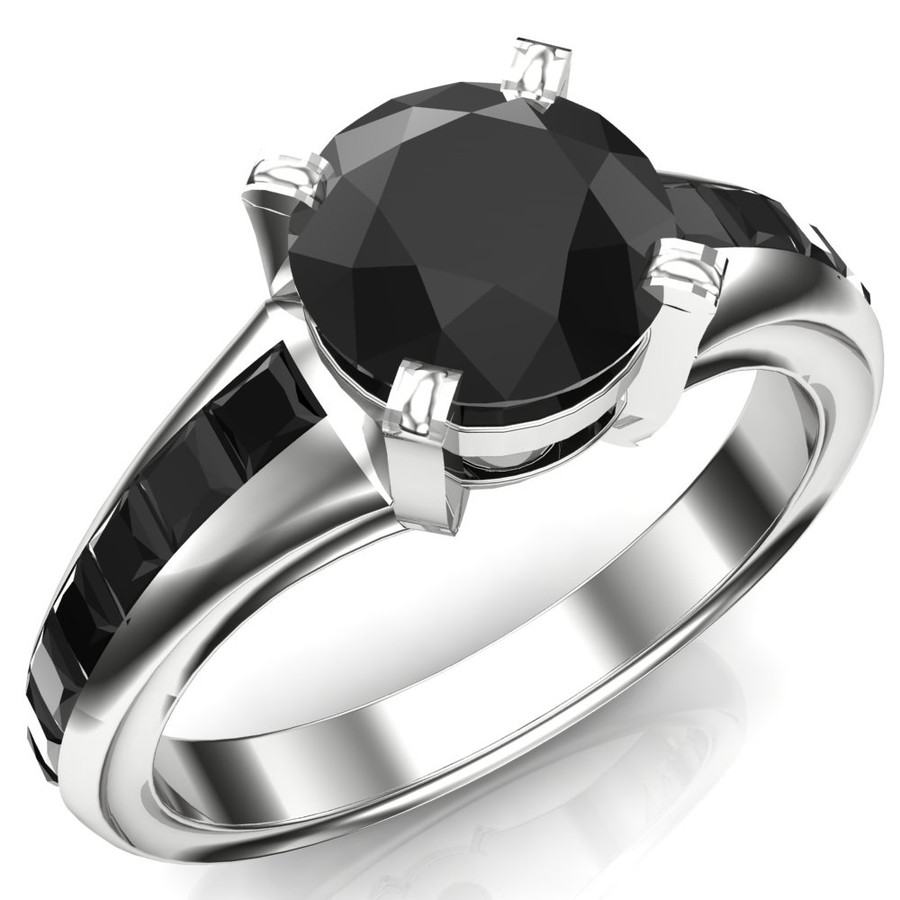 Baby Supernatural Black Diamond Engagement Ring