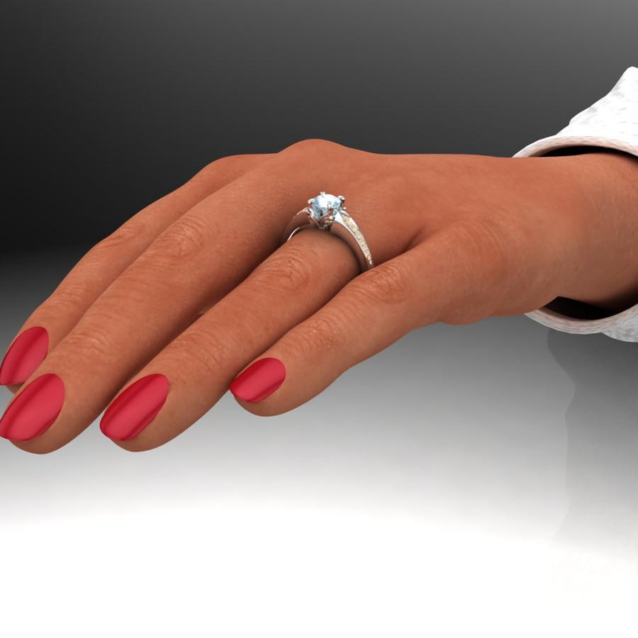 Castiel Montana sapphire engagement ring Supernatural inspired