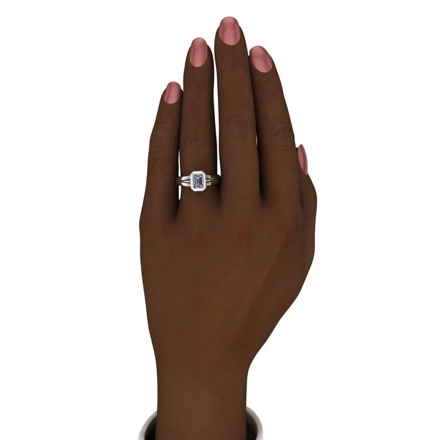 Supernatural ring Gabriel Men's Moissanite Engagement Band