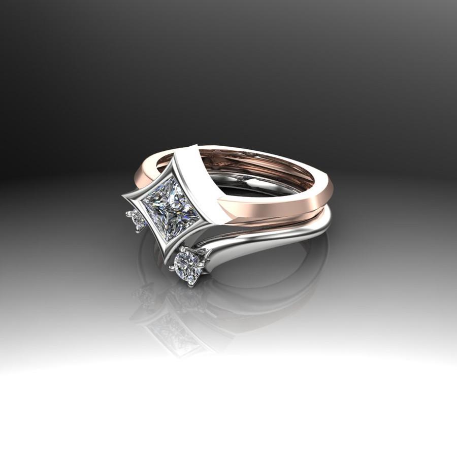 CUSTOM WEDDING RING LAYAWAY for S: Moissanite 14k White Gold Wedding Band