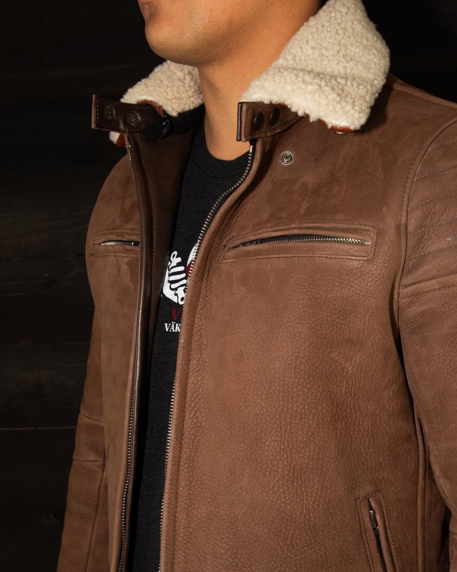 vktre moto co. nubuck pilot racer motorcycle jacket made in USA