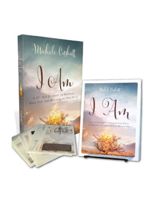 I Am Book Bundle: Book with Verse Cards and Easel