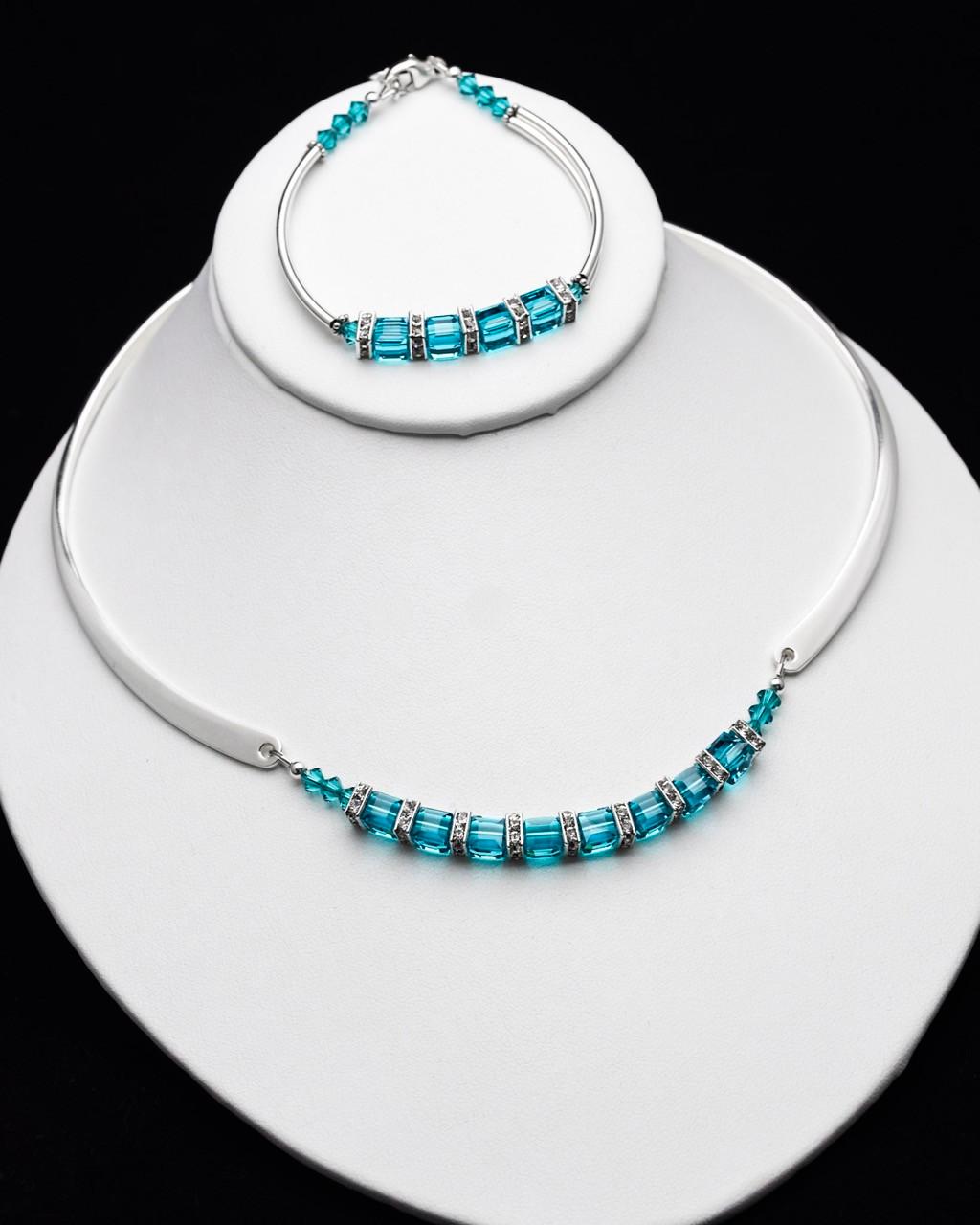 b7f95f591dbe4e Unforgettable Bracelet - Teal Swarovski - SMH Jewelry