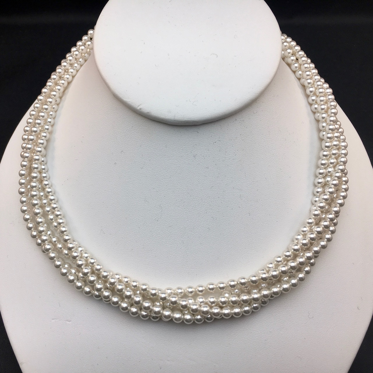 1244fd87cf567d Swarovski 5-strand pearl necklace - SMH Jewelry