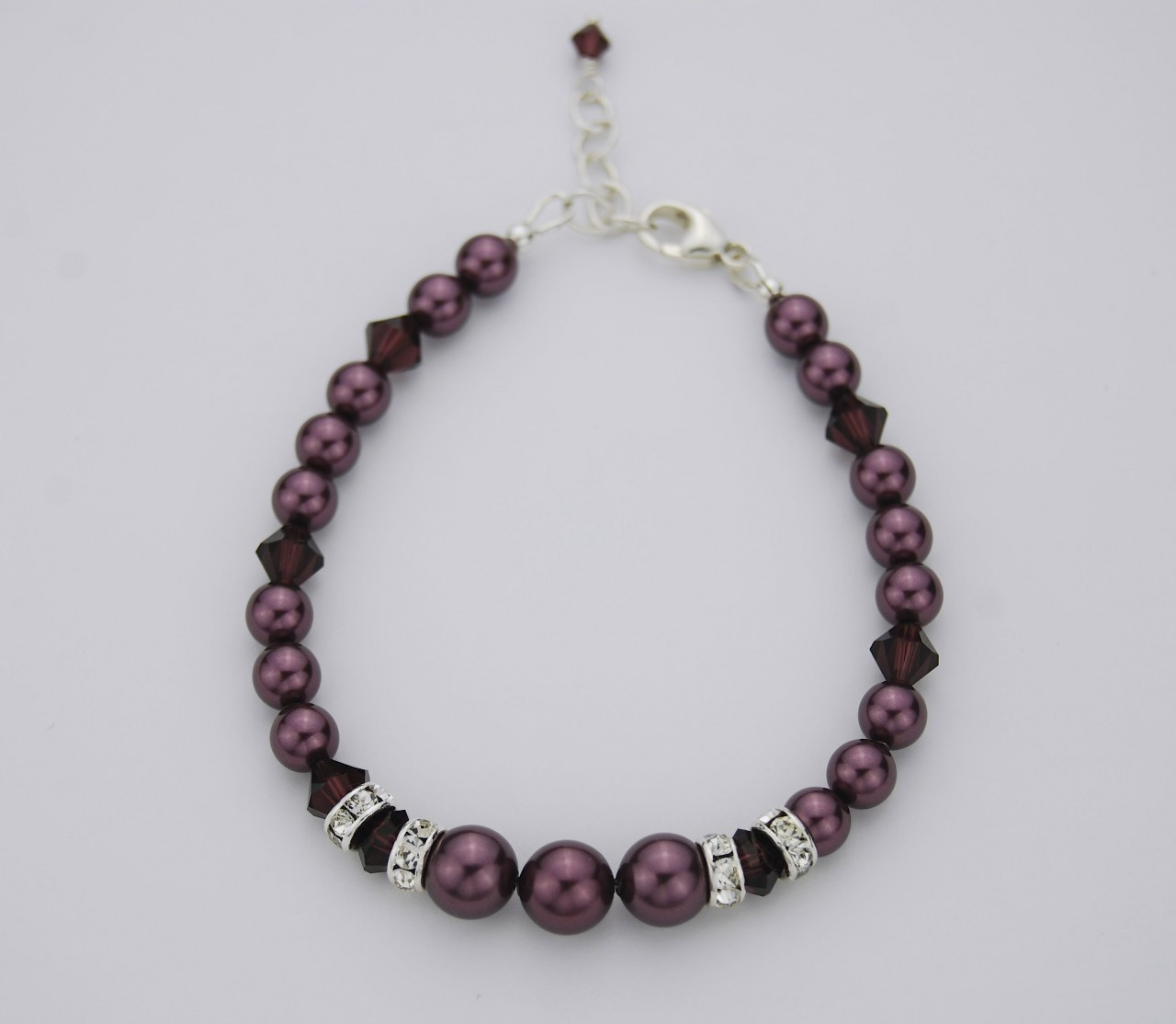 c72138ef5ee508 Swarovski crystal pearl bracelet - SMH Jewelry
