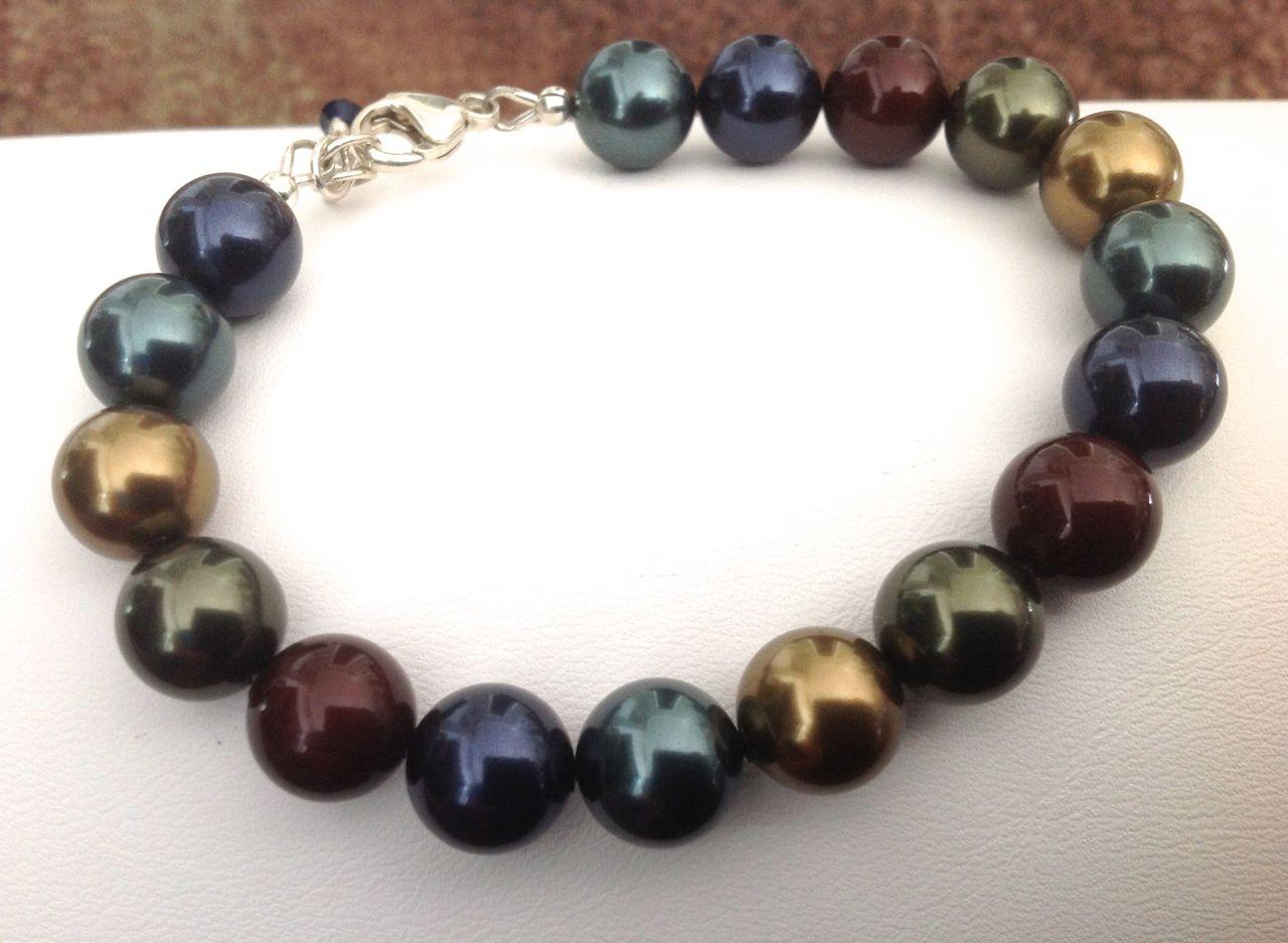 c8b268128f88c2 Swarovski Royal crystal pearl bracelet - SMH Jewelry