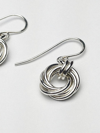 Argentium Love Knot earrings