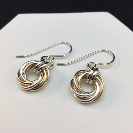 Argentium & 14KT Gold-filled Love Knot earrings