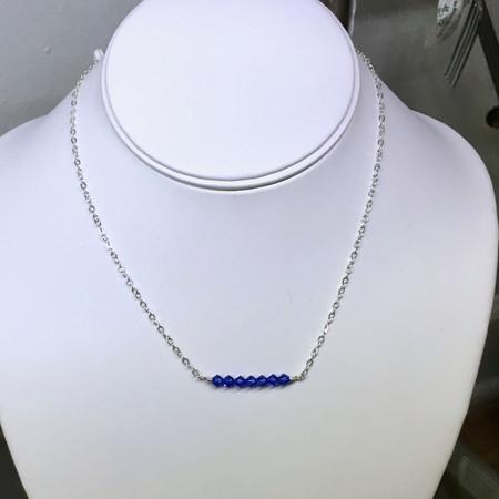 Swarovski crystal sterling silver necklace