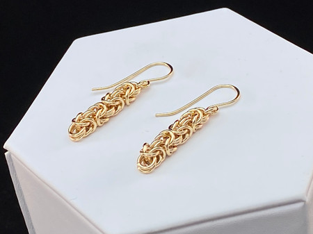 14KT Gold-filled Byzantine earrings