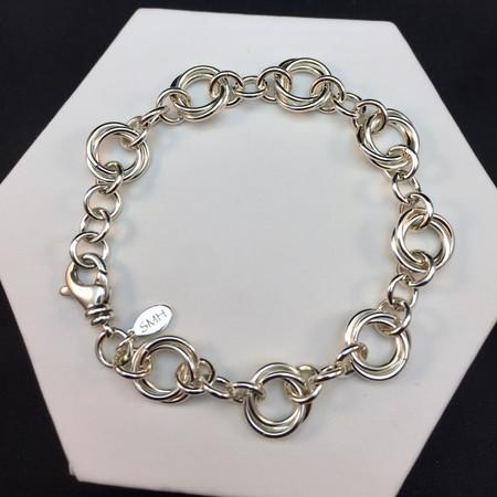 Argentium Spaced Flower bracelet