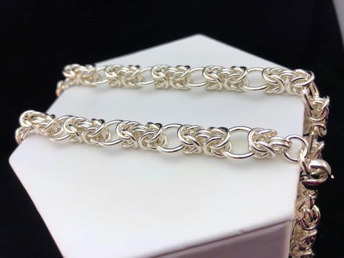 Argentium Interrupted Byzantine necklace