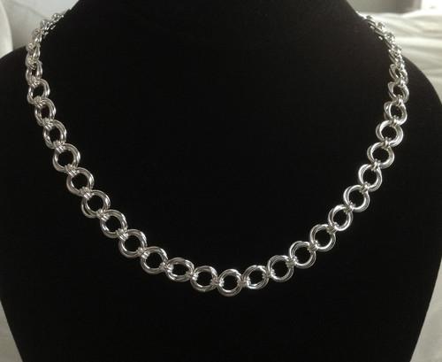 Argentium Mobius Flower necklace