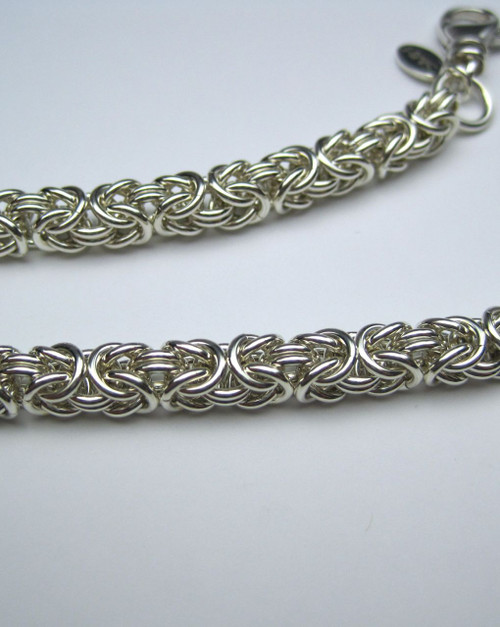 Argentium Byzantine necklace - 18 gauge
