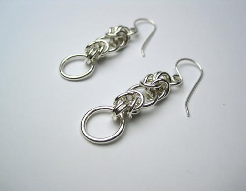 Argentium Interrupted Byzantine earrings