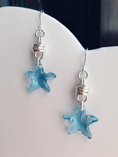 Swarovski starfish earrings