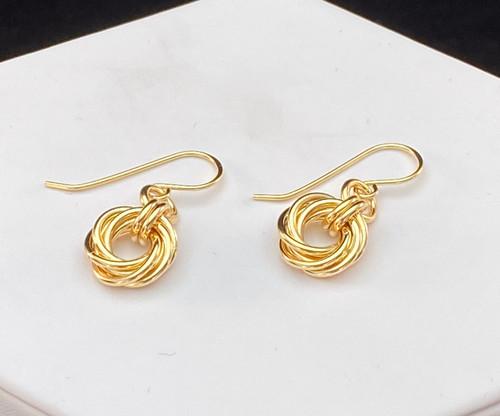 14KT Gold-filled Love Knot earrings