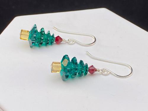Swarovski Classic Christmas tree earrings