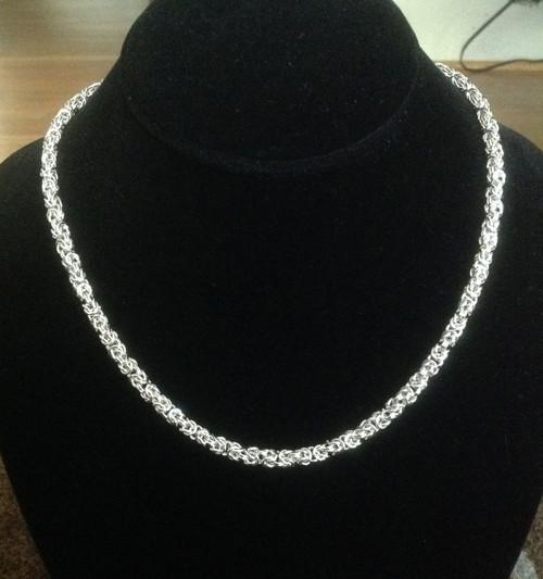 Argentium Byzantine necklace - petite 20 gauge