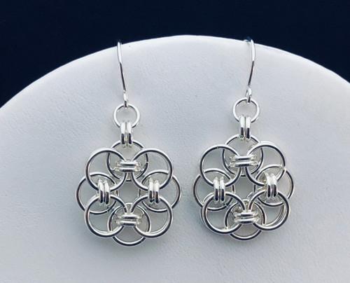 Argentium sterling silver Helm earrings