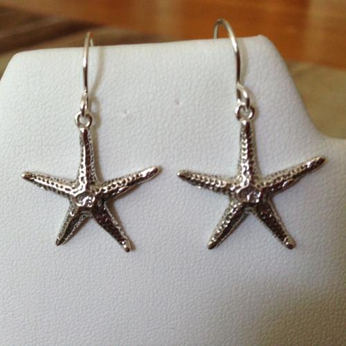 Sterling starfish earrings