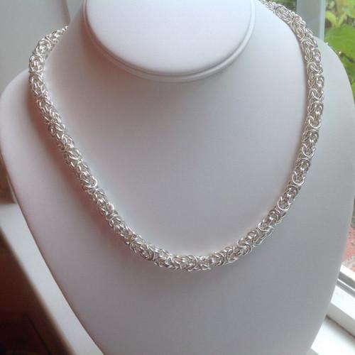 Argentium Byzantine necklace - 16 gauge
