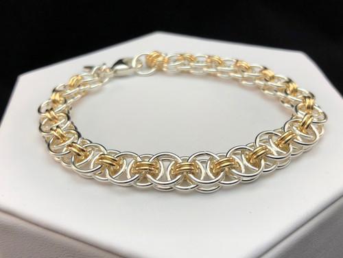 Argentium and 14KT Gold-filled Helm bracelet