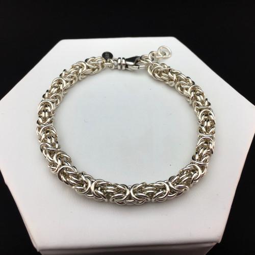 Argentium Byzantine bracelet - 16 gauge