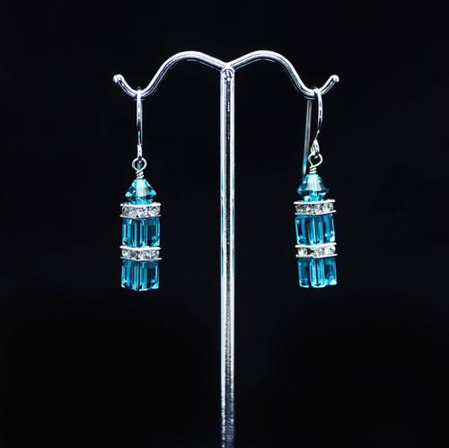 Unforgettable Earrings - Teal Swarovski