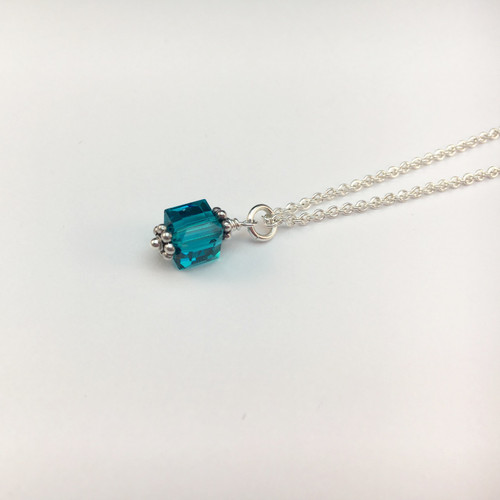 Awareness Cube necklace (small)