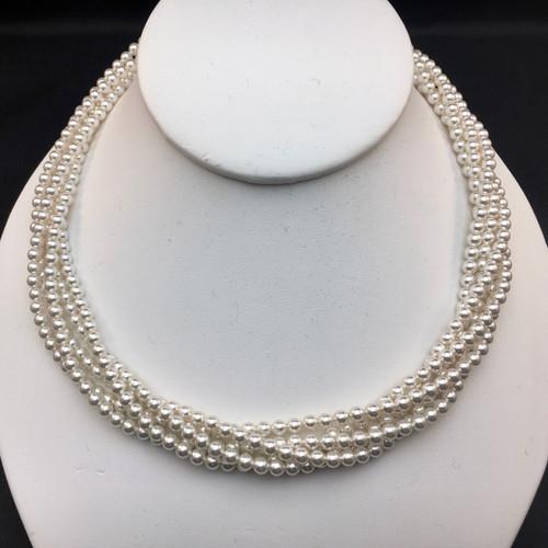 Swarovski 5-strand pearl necklace