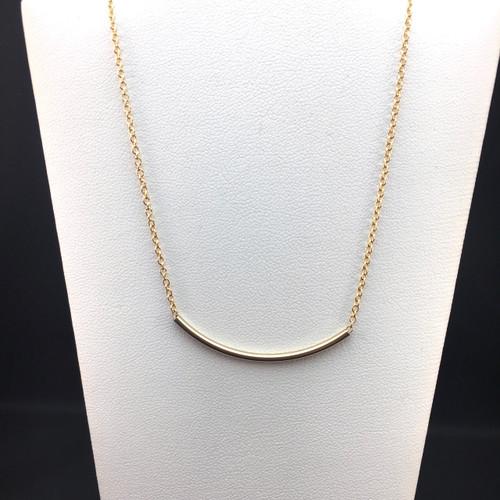 14KT Gold-filled tube necklace
