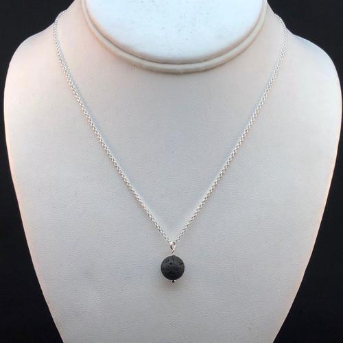 10mm Black Lava Stone necklace